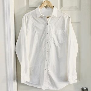 Wilfred Oversized White Button Down Blouse